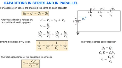 capacitance for capacitors in series capacitor and inductor ppt