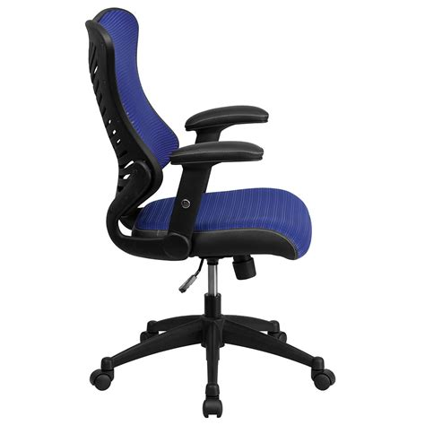 High Back Designer Chairs by High Back Blue Designer Mesh Executive Swivel Office Chair
