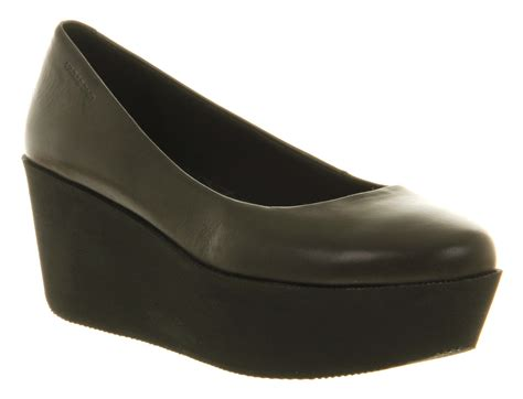 platform flats shoes womens vagabond conga platform black nubuck slip on
