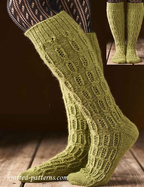 knitting pattern ladies socks knee high socks knitting pattern free