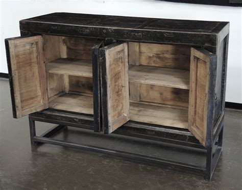 credenza cabinet sideboard credenza cabinet buffet media console black iron