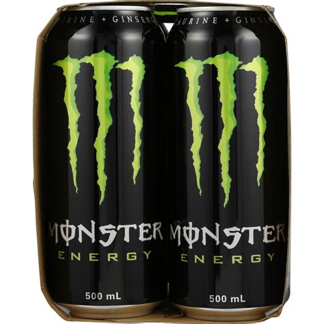 Monster Energy Drink Gift Cards - monster energy drink 4x500ml woolworths
