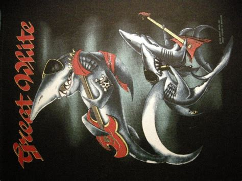 baby shark band great white backpatch shark band patch vintage