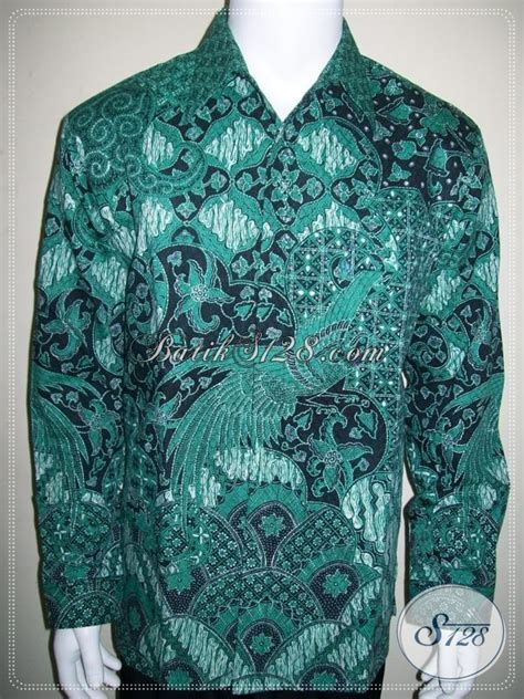 Jaskoko Ekslusif Lengan Panjang S Xl hem batik lengan panjang pakai furing jas warna hijau