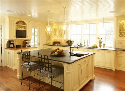 butter yellow kitchen cabinets over 30 colorful kitchens the cottage market