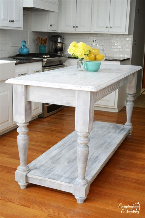 Kitchen Island Build White Modified Kitchen Island From The Handbuilt