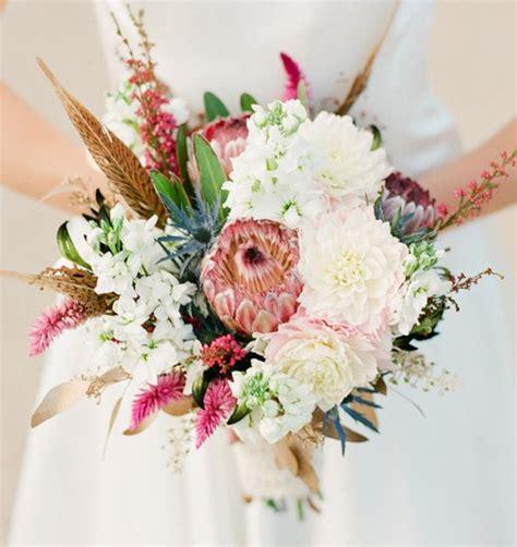 Bridal Boutique Flowers by Feather Protea Thistle Bouquet Bouquet Bouquet