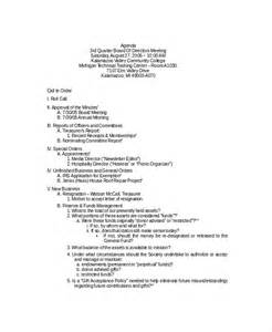 Board Meeting Agenda Template by Board Meeting Agenda Template 10 Free Word Pdf