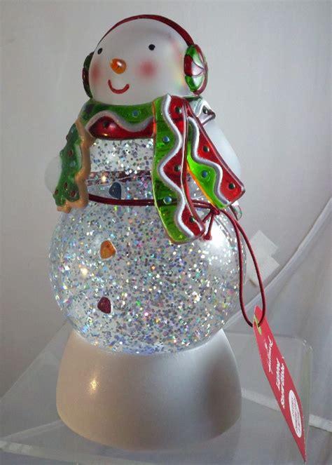 hallmark lighted color changing motion snowman snow globe