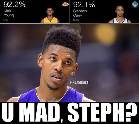 steph curry memes nba memes on quot nick vs steph curry