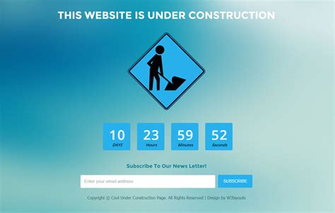 web page construction template free creative construction mobile website template by