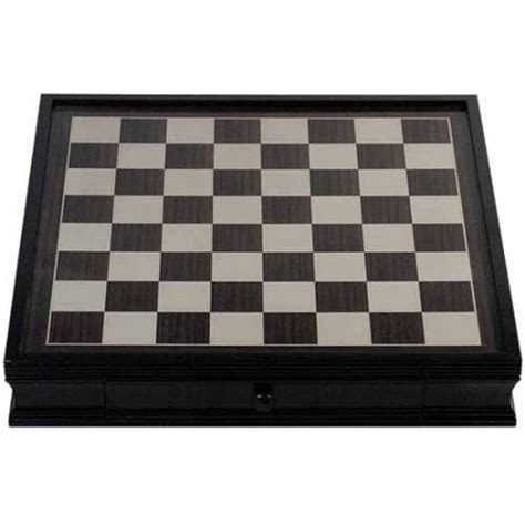 Chess Board With Drawers by Deluxe Chess Board With Storage Drawers Black Stained