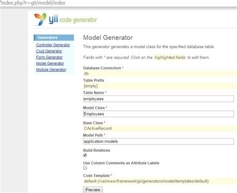 yii relations tutorial creating a web application with the yii framework and