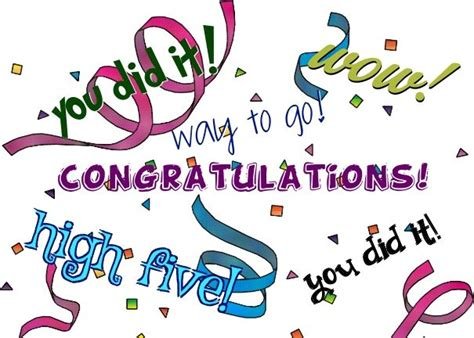 new year congratulation word congratulations wow you did it way to go you did