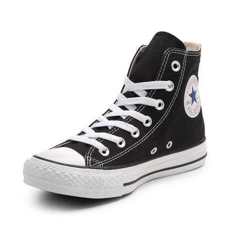 Converse Black Hight black and white converse high tops