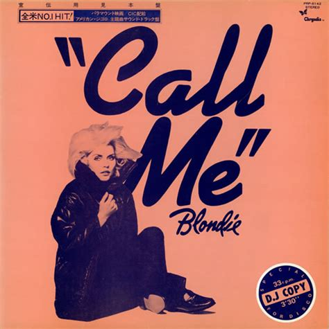 Testo Blondie by Blondie Call Me 3329 Musickr E Testi Canzoni