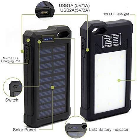 Powerbank Solar Cell Emergency 12 Led solar charger solar power bank ibeek 174 portable 10000mah dual usb solar battery charger