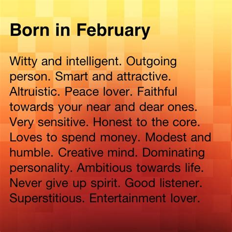 February Birthday Quotes February But I Disagree On A Couple I M Frugal Not