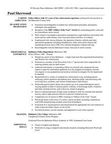 law enforcement resume student resume template