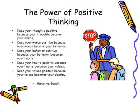Power Of Positive Thinking the power of positive thinking ppt