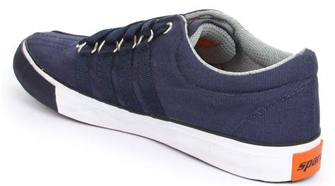 sparx mens blue canvas shoes buy from shopclues