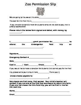 field trip form template new school field trip permission slip