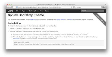 html themes sphinx twitter bootstrap theme for sphinx 183 loose bits