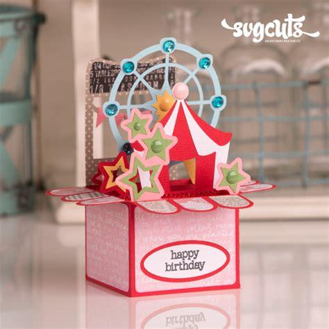 Boxed Gift Card - summer box cards svg kit svgcuts com blog