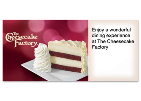Cheesecake Factory Check Gift Card Balance - the cheesecake factory gift cards from cashstar