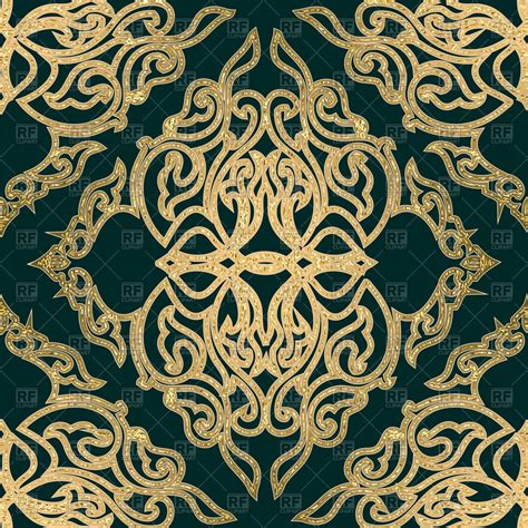 medieval pattern texture seamless medieval golden pattern royalty free vector clip