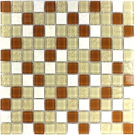 self adhesive glass mosaic tiles beige tm33420