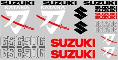 Suzuki Katana Logo High Quality Suzuki Decal Sets Katana