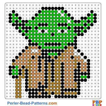 star wars yoda perler bead pattern download a great