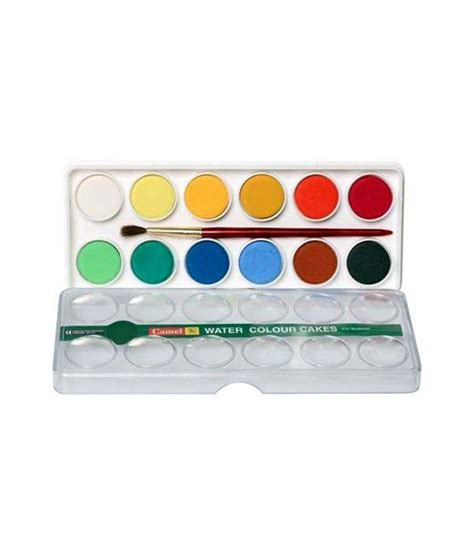 Color Box 4 In 1 camlin students water colour cakes pack of 3 boxes 24