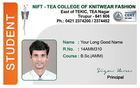 college student card template id card coimbatore ph 97905 47171 student id card