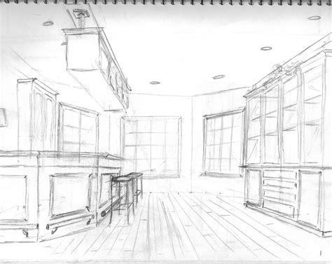 Interior Perspective Drawing by Interior Design Perspective Drawings S