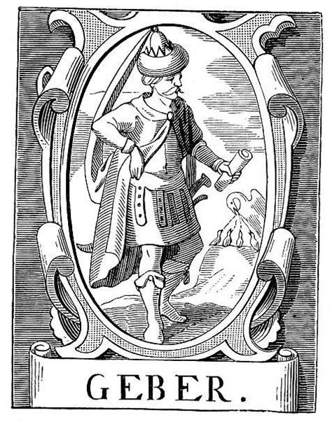 El alquimista Geber - ilustración de arte vectorial