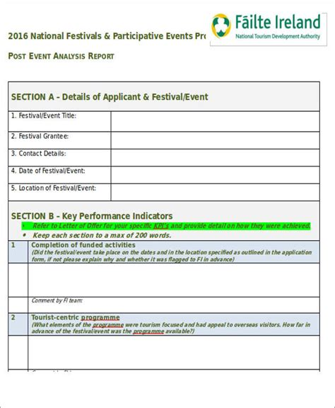 post event report template 28 images 7 event reporting