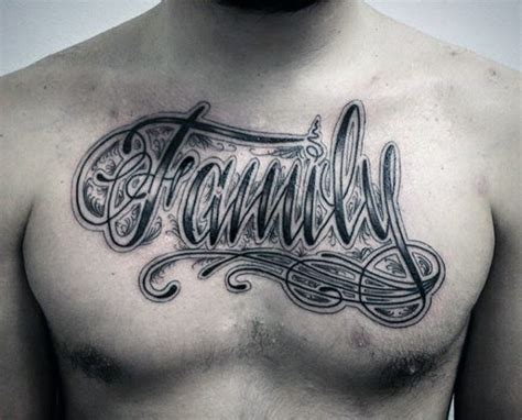 family chest tattoos for men 100 family tattoos for commemorative ink designs