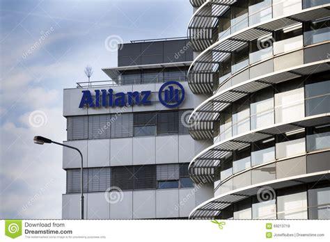 siege social allianz assurance le logo financier et d assurance de groupe d allianz sur