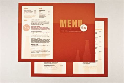 Brewery Pub Menu Template Brochure Design Templates Pinterest Menu Templates And Menu Pub Menu Template