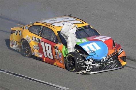 kyle busch blasts goodyear  race  daytona  crash   win
