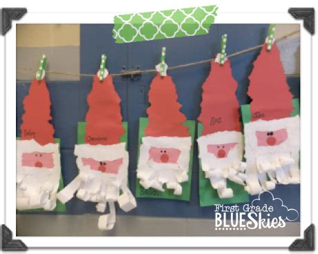first grade blue skies christmas crafts in the classroom