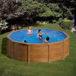 piscine aspect bois piscine hors sol acier gre alto eco aspect bois diam 3 50m