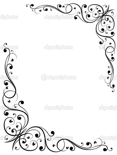 pattern frame template free fancy borders and frames simple abstract floral