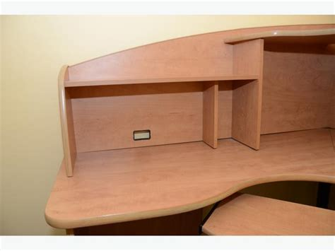 Corner Desk With Keyboard Tray Corner Office Desk W Hutch And Keyboard Tray Nepean Ottawa Mobile