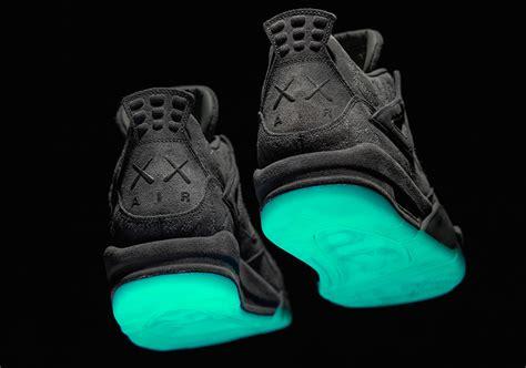 Air 4 Kaws kaws air 4 glow in the sole sneakernews