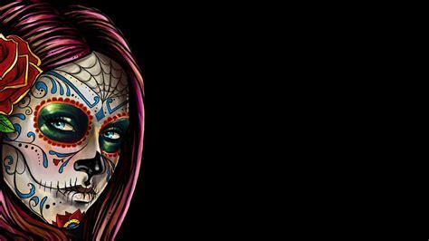 skull desktop wallpaper tumblr sugar skull wallpaper for iphone wallpapersafari
