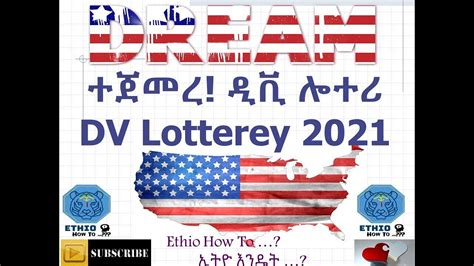 dv lottery  entry  ethio