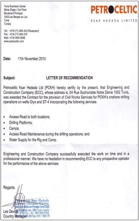 Work Experience Letter Contractor Construction Work Construction Work Experience Letter Format